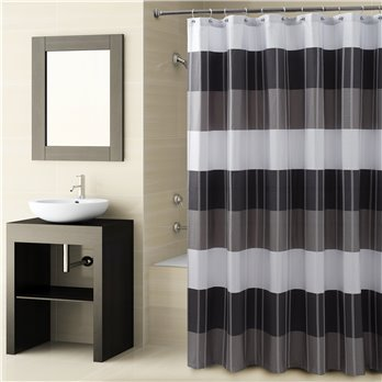Fairfax Shower Curtain Black 72X72