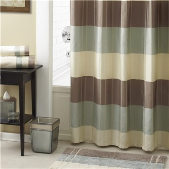 Fairfax Shower Curtain Taupe 72X72