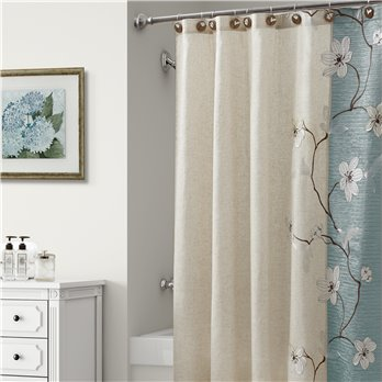 Magnolia Shower Curtain Seafoam 70X72