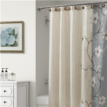 Magnolia Shower Curtain Slate Grey 70X72