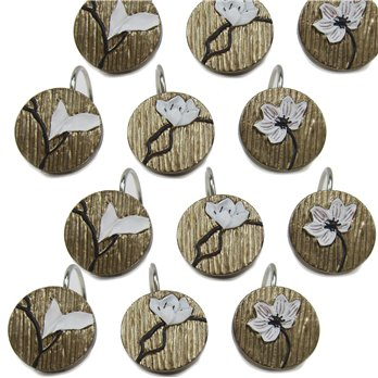 Magnolia Shower Hooks Set of 12