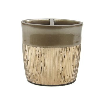 Magnolia Bronze Toothbrush Holder