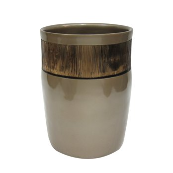 Magnolia Bronze Waste Basket