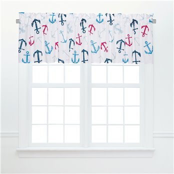 Anchors Away Unlined Valance