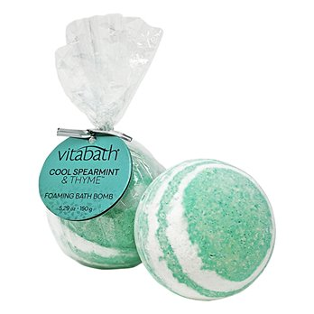 Vitabath Cool Spearmint and Thyme Foaming Bath Bomb(5.29 oz)