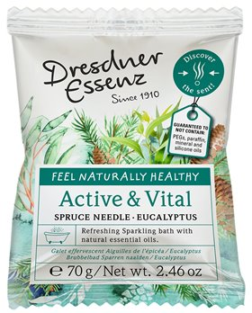 Dresdner Essenz Active and Vital Spruce Needle Eucalyptus Sparkling Bath