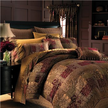 Galleria Red Cal King Comforter Set