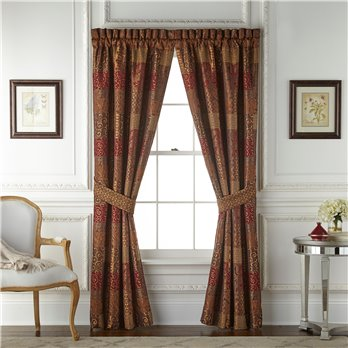 Galleria Red Pole Top Drapery82x84
