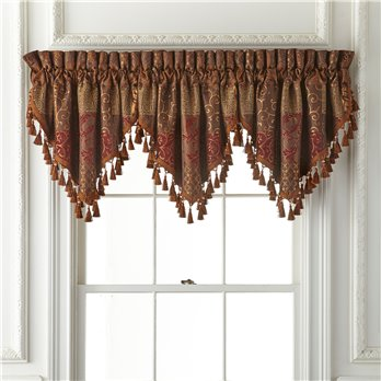 Galleria Red Ascot Valance 40x21