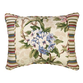 Hillhouse Breakfast Pillow - with stripe border