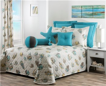 Seaside Treasures Caribbean Queen Bedspread