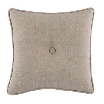 Seaside Treasures Caribbean Solid Square Pillow - Textured Beige