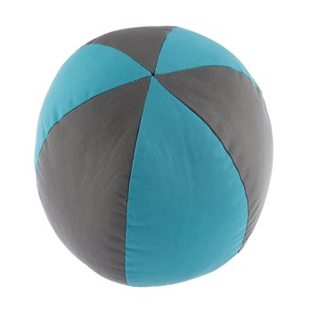 Seaside Treasures Caribbean Beach Ball Pillow - Grey/Peacock