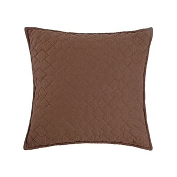 Regent Cocoa Quilted Pillow