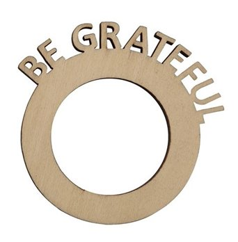 Be Grateful Napkin Rings - Set of 6