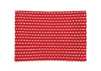 Red & White Cotton Woven Placemat