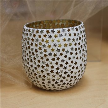 Stars Glass Mosaic Tealight Holder