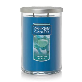 Yankee Candle Turquoise Glass Large 2 Wick Tumbler Candle