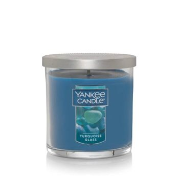 Yankee Candle Turquoise Glass Regular Tumbler Candle