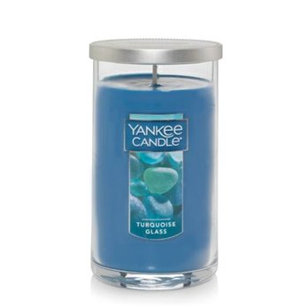 Yankee Candle Turquoise Glass Medium Perfect Pillar Candle