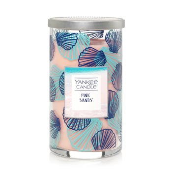 Yankee Candle Pink Sands Medium Perfect Pillar Candle - Seashell