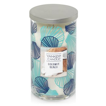 Yankee Candle Coconut Beach Medium Perfect Pillar Candle - Seashell