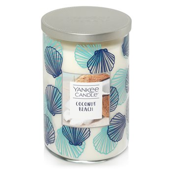 Yankee Candle Coconut Beach Large 2 Wick Tumbler Candle -Seashell