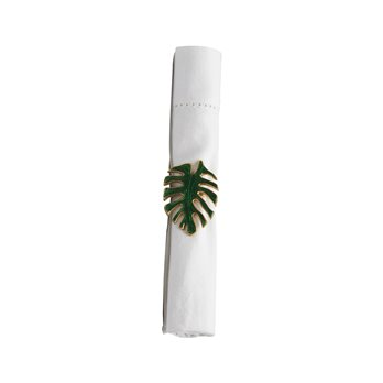 Palm Leaf Enameled Napkin Ring