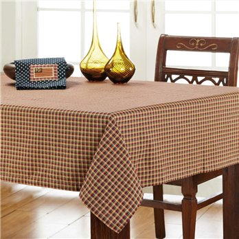 Patriotic Patch Plaid Table Cloth 60x80