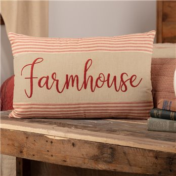 Rory Schoolhouse Red Farmhouse Pillow 14x22