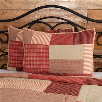 Rory Schoolhouse Red Standard Sham 21x27