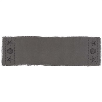 Sandy Grey Burlap Runner 13x48