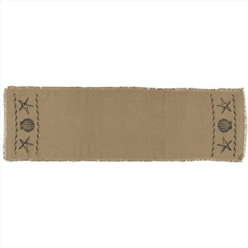 Sandy Tan Burlap Runner 13x48