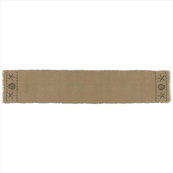 Sandy Tan Burlap Runner 13x72