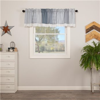 Sawyer Mill Blue Patchwork Valance 19x72