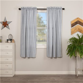 Sawyer Mill Blue Plaid Short Panel Set of 2 63x36