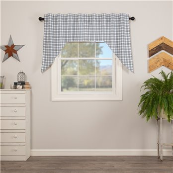 Sawyer Mill Blue Plaid Swag Set of 2 36x36x16
