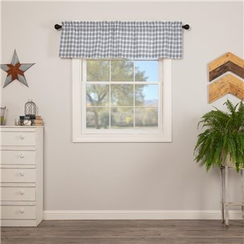 Sawyer Mill Blue Plaid Valance 16x60