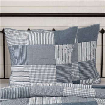 Sawyer Mill Blue Quilted Euro Sham 26x26