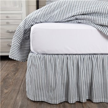 Sawyer Mill Blue Ticking Stripe Queen Bed Skirt 60x80x16
