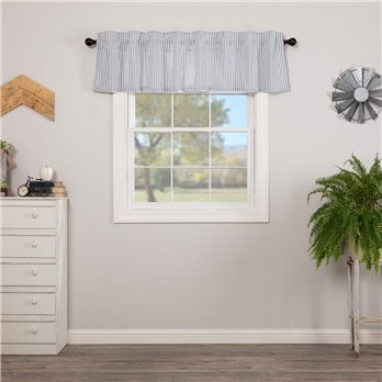 Sawyer Mill Blue Ticking Stripe Valance 16x72