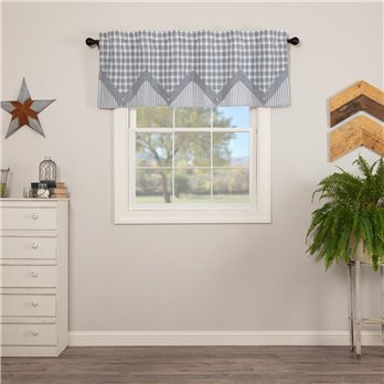 Sawyer Mill Blue Valance Layered 20x60
