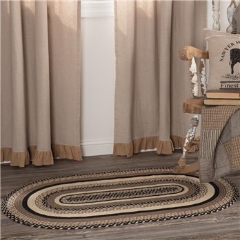Sawyer Mill Charcoal Jute Rug Oval 27x48