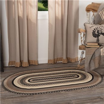 Sawyer Mill Charcoal Jute Rug Oval 36x60