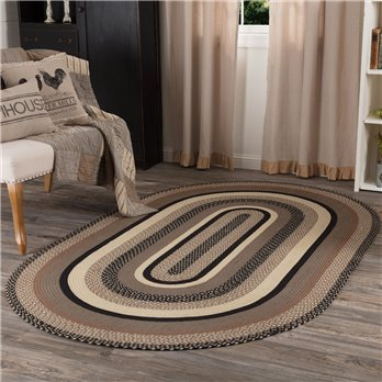 Sawyer Mill Charcoal Jute Rug Oval 60x96