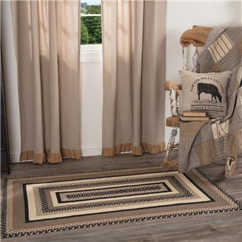 Sawyer Mill Charcoal Jute Rug Rect 36x60