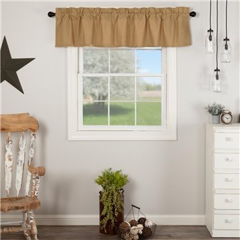 Simple Life Flax Khaki Valance 16x72