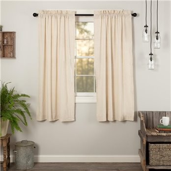 Simple Life Flax Natural Short Panel Set of 2 63x36
