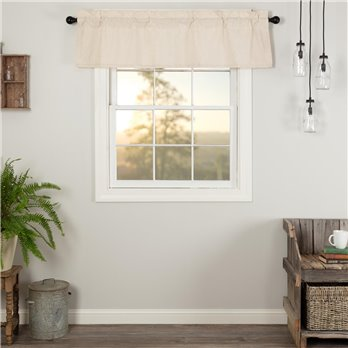 Simple Life Flax Natural Valance 16x60