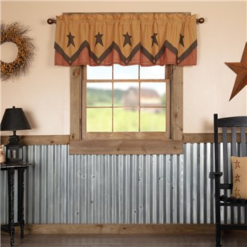 Stratton Primitive Star Valance Layered 20x72